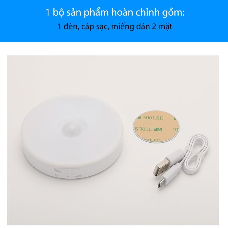 Đèn Tủ Quần Áo Cảm Ứng Thông Minh Không Dây, Sạc USB