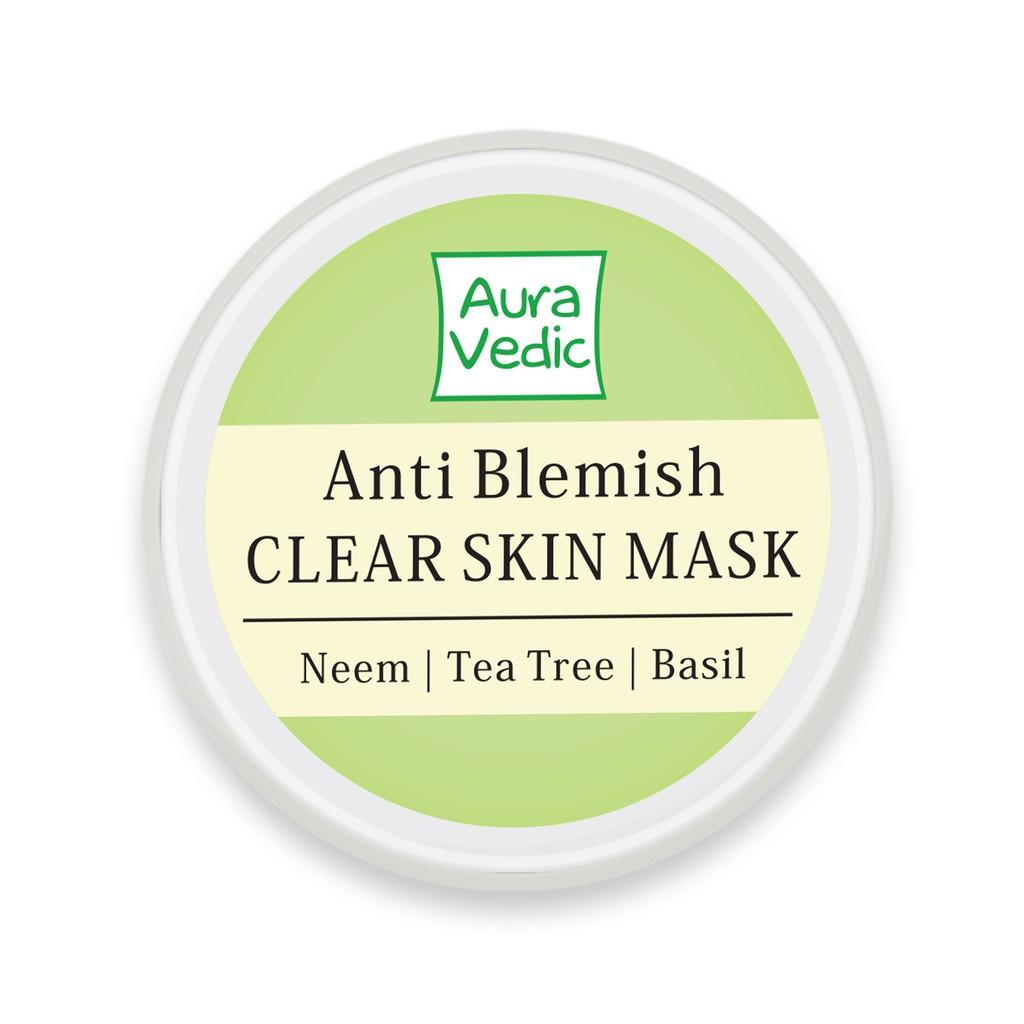 Hình ảnh [COSMALL25 giảm 30K] Mặt Nạ Neem Trị Mụn AuraVedic Anti Blemish Clear Skin 50g-1