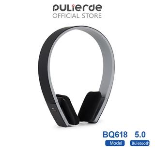 Tai nghe chụp tai không dây bluetooth 5.0 Pulierde BQ618 nhiều màu sắc điều chỉnh được có micro dành cho điện thoại