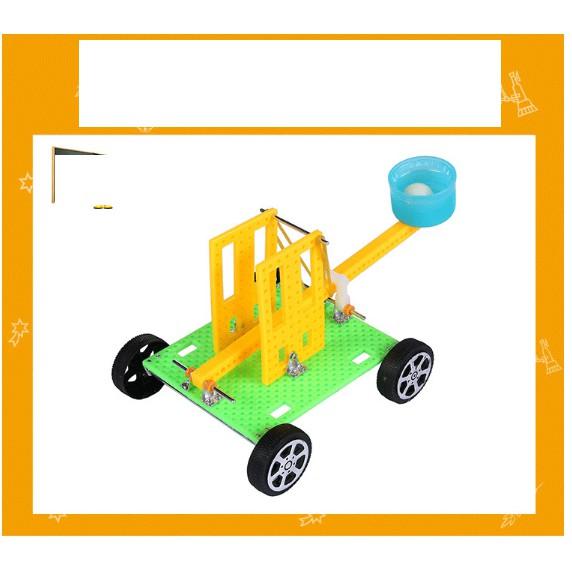 Đồ chơi thông minh, sáng tạo Đồ chơi khoa học STEAM  - chế tạo máy ném đá cho bé