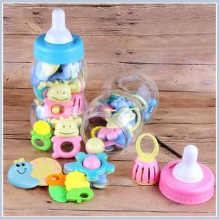[GIÁ SỐC] Bộ đồ chơi xúc xắc bình sữa nhiều món phát tiếng cho bé | Shop Mẹ Sóc