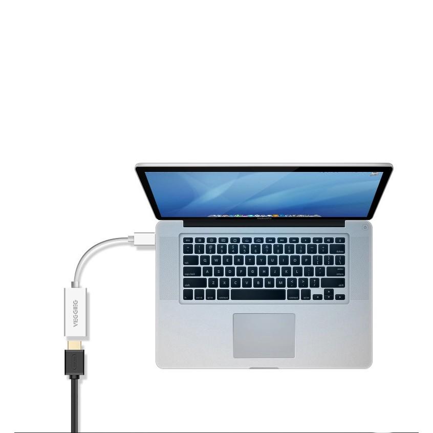 Cáp Chuyển Mini Displayport Sang HDMI VEGGIEG - Thunderbolt To HDMI dành cho Macbook