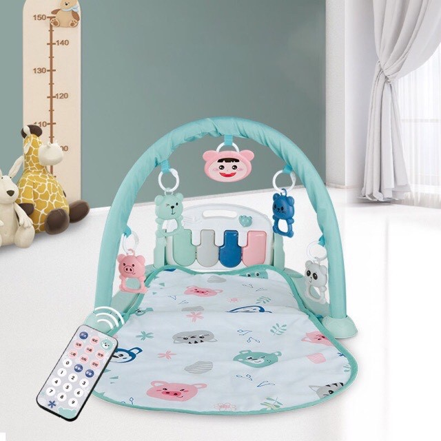 Thảm nằm chơi có nhạc , remote điều khiển cho bé