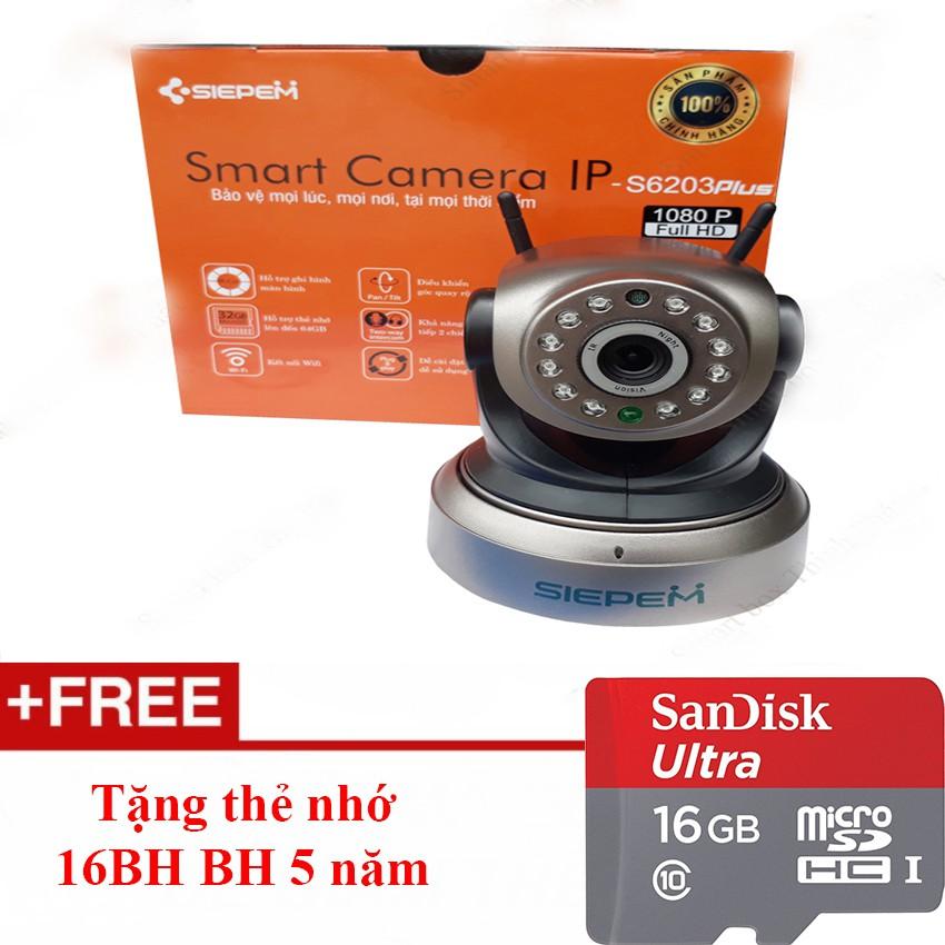 Camera Siepem S6203 Plus 2 Râu FHD 1080 Tặng thẻ nhớ