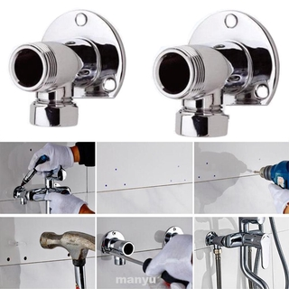 2pcs Home Practical Wall Mount Copper Easy Install Bathroom Supplies Elbows Shower Valve