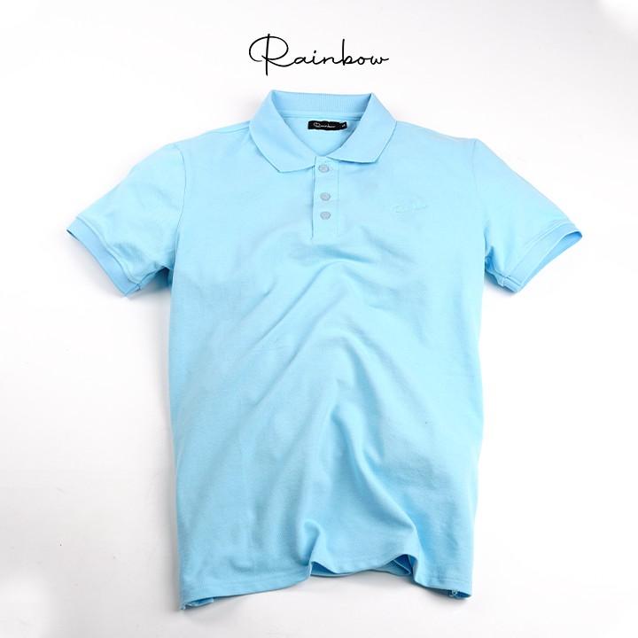 Áo Polo thun, áo thun cotton cao cấp Rainbow RBMLSH - 001