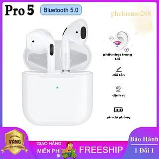 Tai Nghe Bluetooth[PKS05] Airpods Pro 5 Cao Cấp, Định vị đổi tên, Siêu nhạy iTech Bảo Hành 3 tháng thumbnail