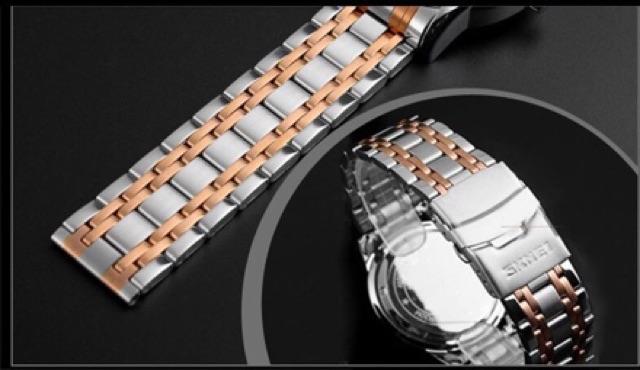 Đồng hồ nam skmei 9071 dây kim loại