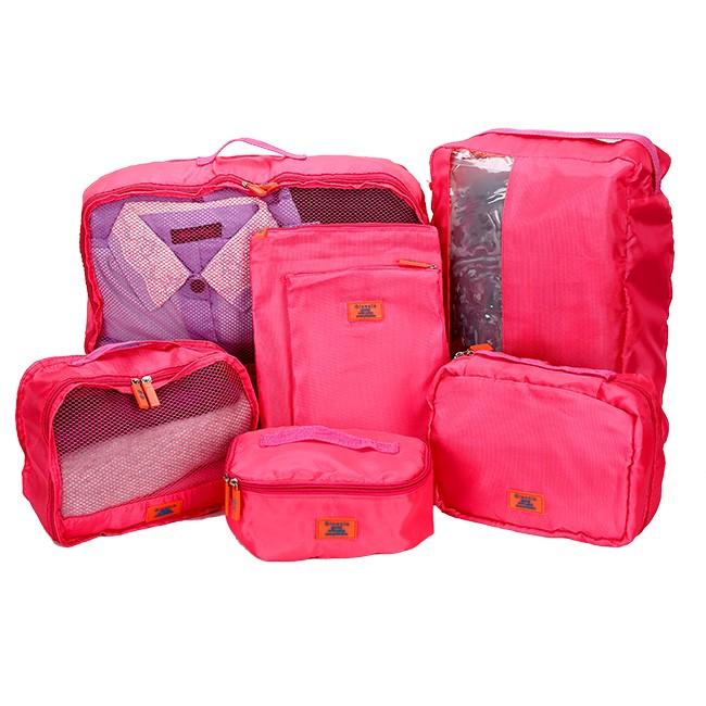 Bộ 7 túi du lịch cao cấp ( hồng)