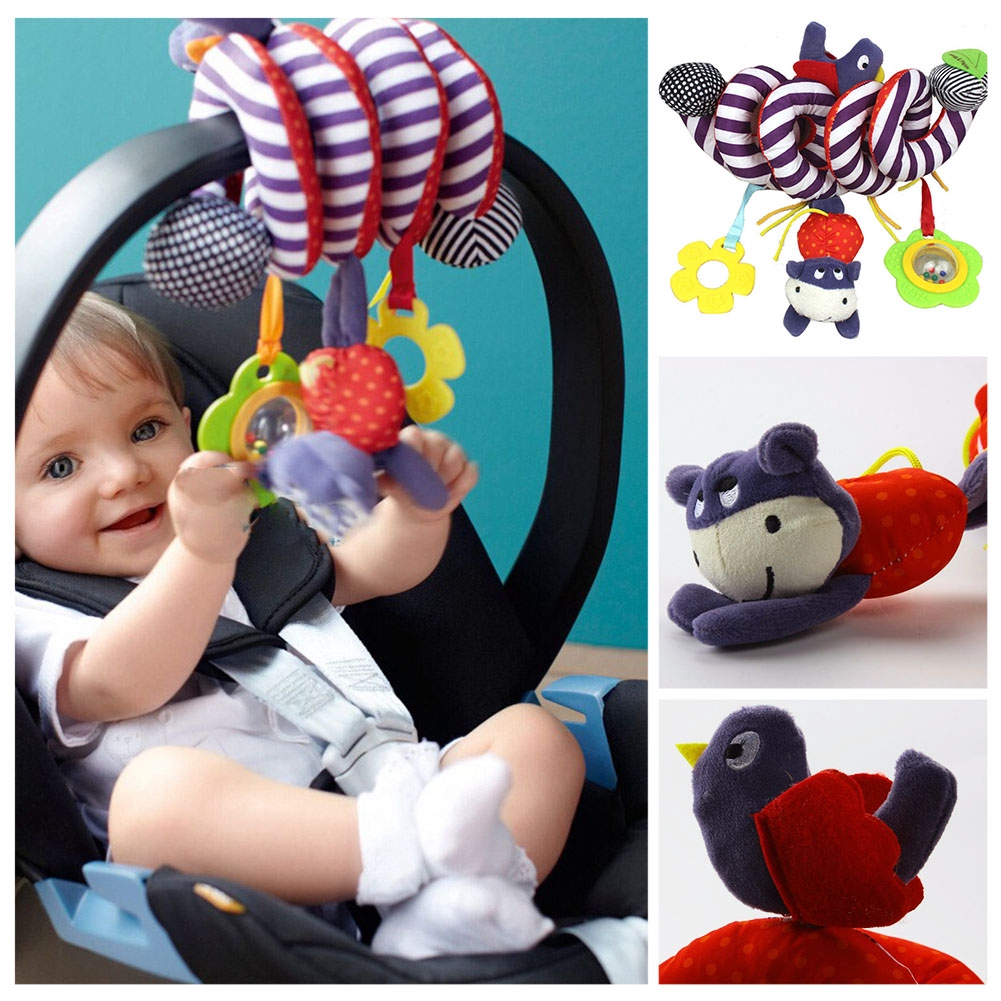 Super soft cute baby infant toys, animal circled stroller rattle toy