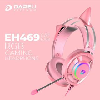 Tai nghe DAREU EH469 QUEEN RGB (Kèm CAT EARS) – Hàng chính hãng