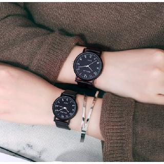 Đồng hồ thời trang nam nữ Mstianq MS021 mặt số, dây cao su cực bền
