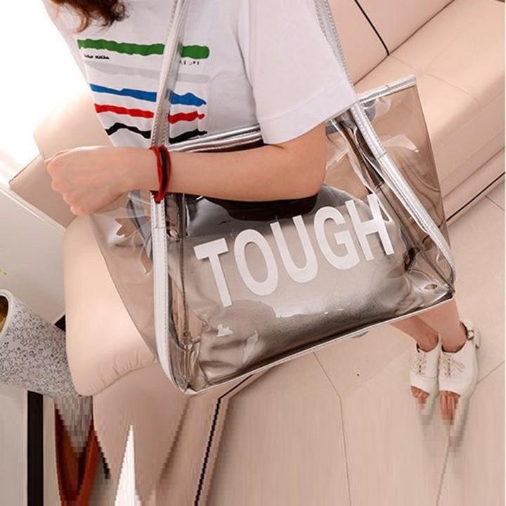 Túi Xách Nữ Đeo Vai, Nhựa PVC Trong Suốt, Kèm Túi Nhỏ Bên Trong TX018