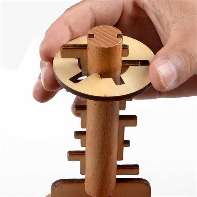 Đồ chơi khóa gỗ xếp hình chìa khóa dành cho trẻ em