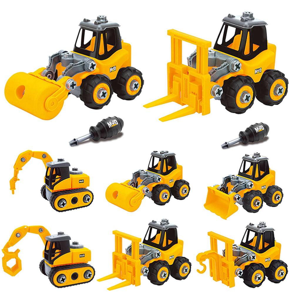 With Screwdriver Digger Vehicle Kids Toy Car Set Take Apart Nut Disassembly Construction Excavator Educational Sliding
