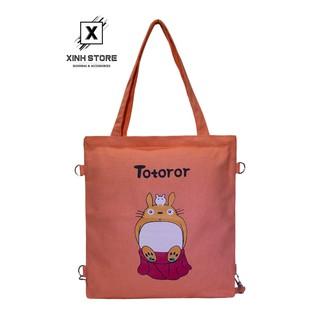 Túi Vải Tote Đeo Chéo Totoror Ngồi Hồng Cam XinhStore thumbnail