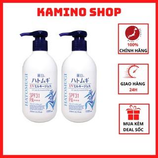 Sữa dưỡng thể Hatomugi SPF31 PA+++ 250ml dưỡng thể chống nắng trắng da Kamino Shop thumbnail