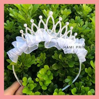 [Mã FASHIONGREEN44 giảm 10K đơn 50K] BỜM TÓC vương miện size to thiết kế cho bé gái cực xinh Hami_Princess