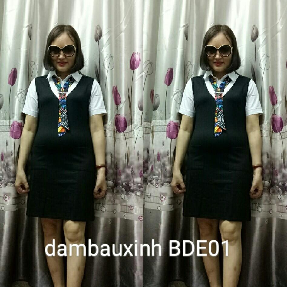 Đầm bầu thời trang công sở BDE467