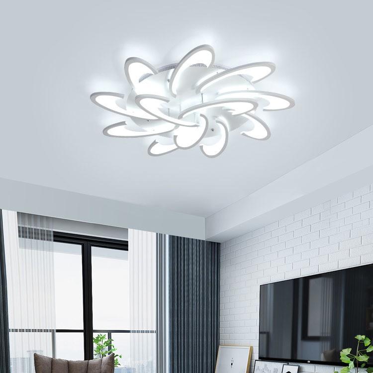 Đèn trần - đèn LED ốp trần - đèn trần trang trí 12 cánh hiện đại