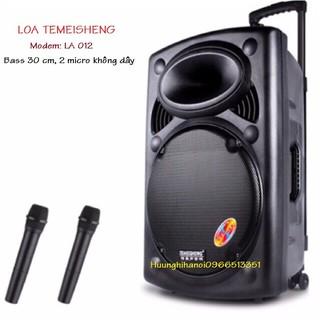 Loa karaoke di động, loa kéo giá rẻ Temeisheng bass 3 tấc, tặng 2 micro không dây, âm thanh cực hay, bền, giá rẻ LA012 thumbnail