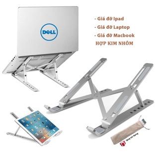 Giá Đỡ Laptop , Macbook , Ipad Chất Liệu Bằng Nhôm , Điều Chỉnh Độ Cao , Chống Mỏi Cổ Mỏi Lưng , Hỗ Trợ Tản Nhiệt Tốt thumbnail