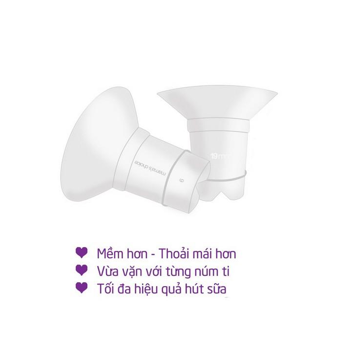 Trợ Phễu Silicone Mama's Choice NewFit | Đệm Giảm Hạ Size Phễu, Cup Hút Sữa 17-19-21mm | Hút Sữa Hiệu Quả và Êm Ái Hơn