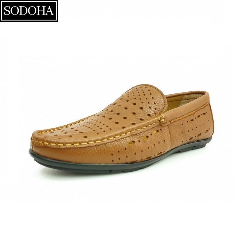 Giày Lười Siêu Thoáng Nam SODOHA SDH58688V Da Bò