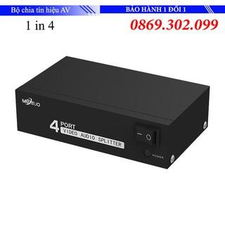 Bộ chia tín hiệu AV (Video & Audio) 1 ra 4 - AV Splitter 1 in 4 out MT-Viki thumbnail