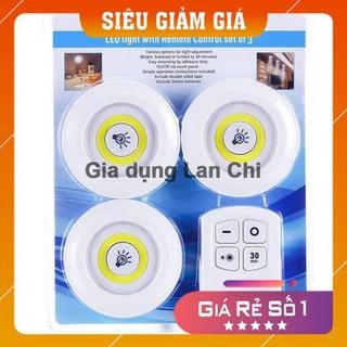 [Combo – Điều khiển từ xa] Bộ 3 đèn LED không dây dán tường, phòng ngủ, tủ quần áo
