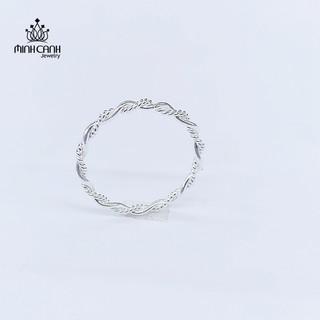 [Mã MCJ20 giảm 20K đơn từ 199K] Nhẫn Bạc Nữ Xoắn Thừng - Minh Canh Jewelry thumbnail