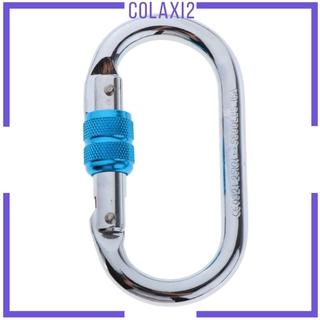 [COLAXI2] Outdoor Climbing Aluminum Carabiner Screw Locking O-Shape 25KN for Hiking Swing