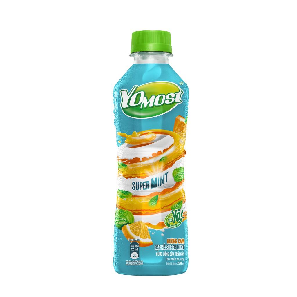 Sữa trái cây bạc hà hương cam chai 270ml