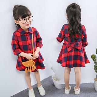 Áo Sơ Mi Tay Dài Sọc Ca Rô Màu Đỏ Thời Trang Xinh Xắn Dành Cho Bé Gái 90cm 7 thumbnail