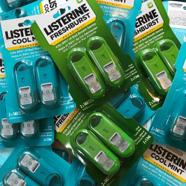 khử mùi miệng Listerine
