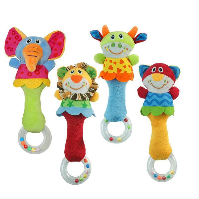 Kids Baby Animal Handbells Musical Developmental Toy Bed Bells Rattle Toys
