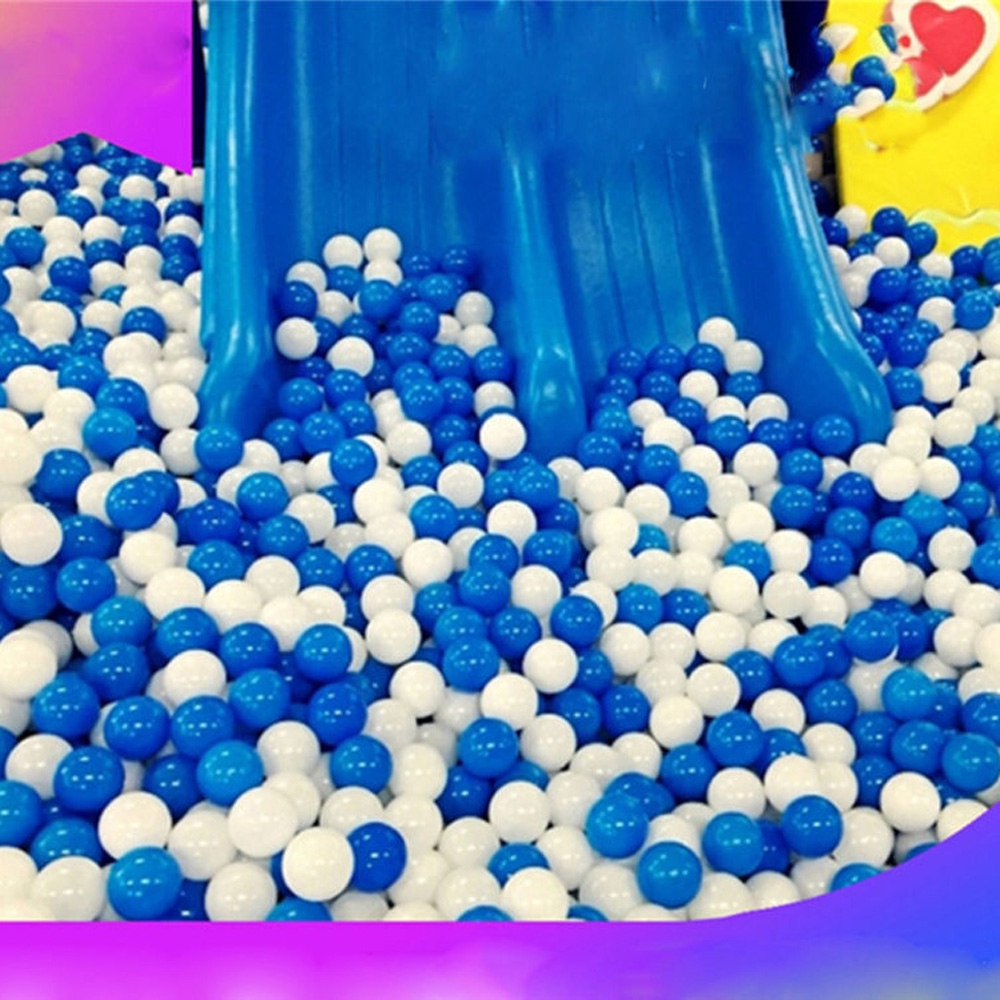 500X Swim Fun White & Blue Soft Plastic Ocean Ball Secure Baby Kid Pit Toy Top M