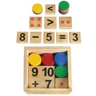 Đồ chơi gỗ bộ học toán Winwintoys 61312