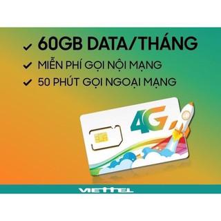 [FREE THÁNG ĐẦU] Sim 4G Viettel V120 tặng 62GB/tháng miễn phí nghe gọi nội mang, ngoại mạng 50 phút