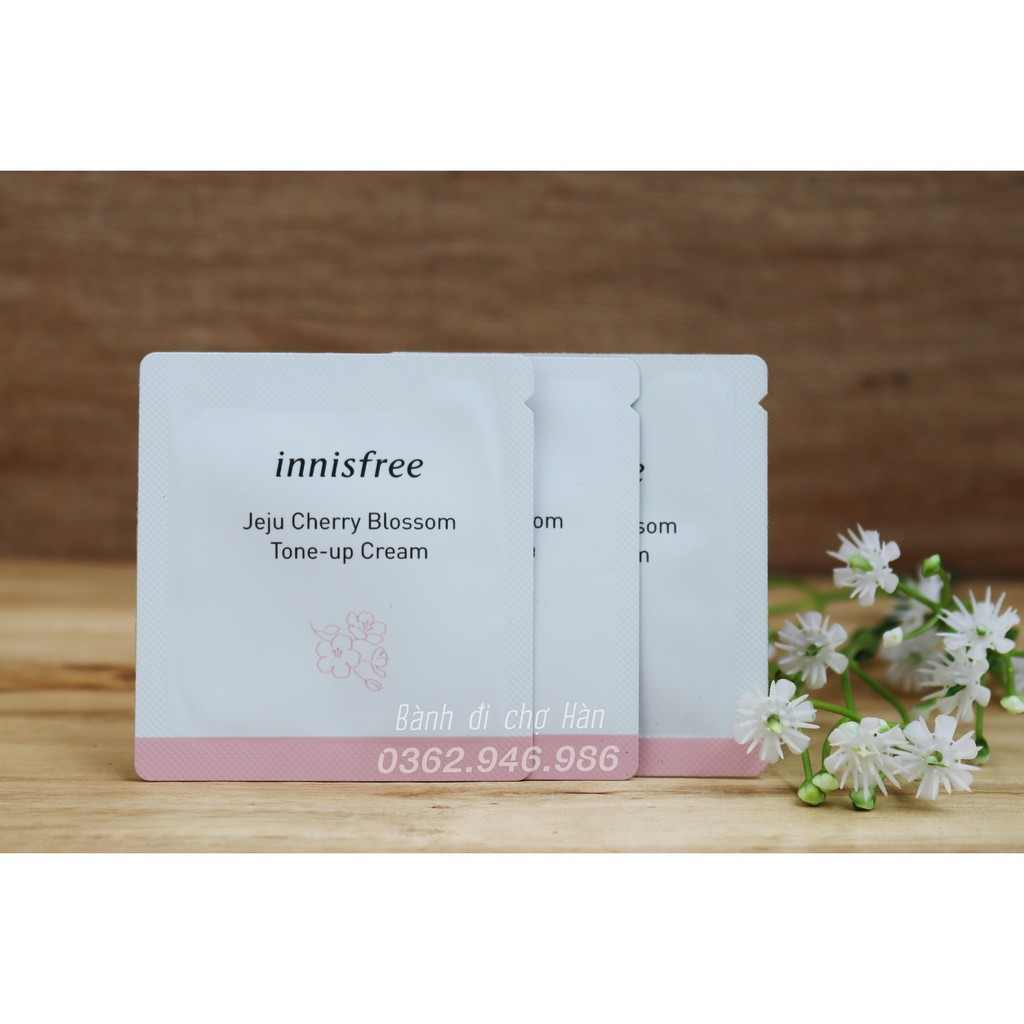 Sample Kem Dưỡng Innisfree Jeju Cherry Blossom Tone Up Cream 1ml