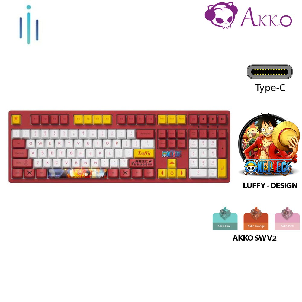 [Mã ELTECHZONE giảm 5% đơn 500K] Bàn phím cơ AKKO 3108 v2 One Piece – Luffy Akko switch v2