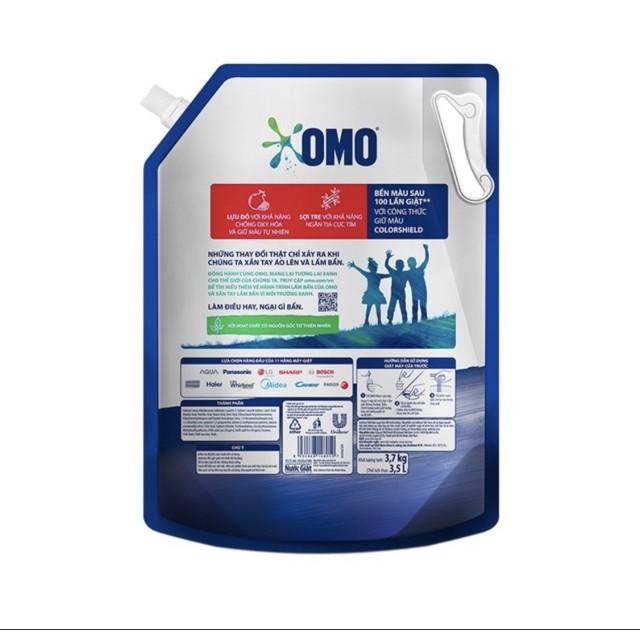 Nước Giặt Cửa Trước OMO Matic Bền Đẹp túi 3.7 kg