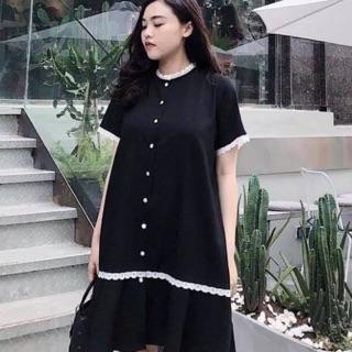 Đầm xuông họa tiết cổ ren cho mẹ bầu siêu xinh