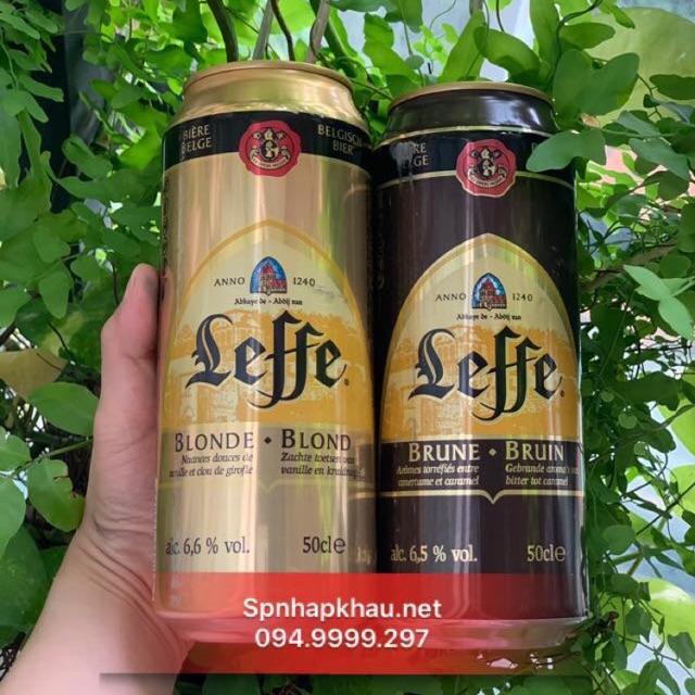 Combo 6 Lon Bia Leffe Vàng , Leffe Nâu 500ml