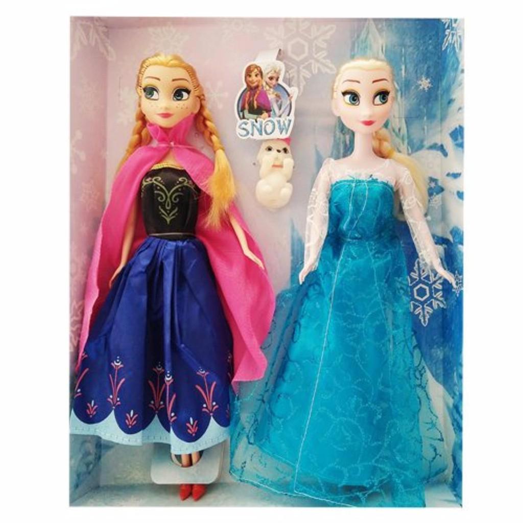 Bộ 2 Công Chúa Búp Bê Anna Và Elsa Đáng Yêu Cho Bé Gái