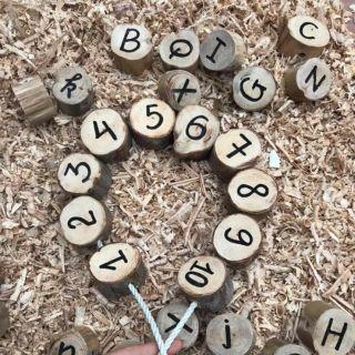 Bộ chữ số đồ chơi gỗ cho bé vừa học vừa chơi