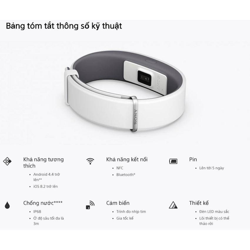 Vòng đeo sức khỏe Sony Smartband 2
