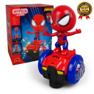 Children's Toy Spider-Man Balance Car Sound And Light Model Toys
