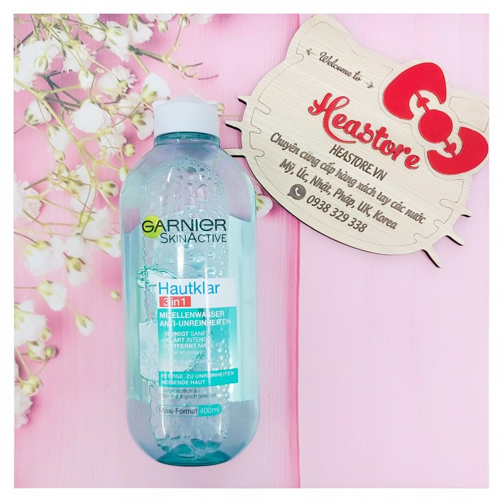 Nước tẩy trang Garnier Skinactive Hautklar dành cho da mụn và nhờn - 400ml