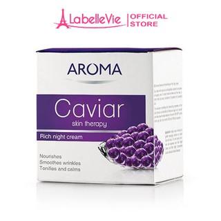 Kem dưỡng da ban đêm AROMA Caviar Skin Therapy Cream chiết suất trứng cá Caviar 50ml thumbnail